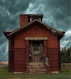 Old school house door