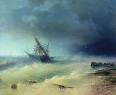 Storm 1872 110h130. Ivan Konstantinovich Aivazovsky (1817-1900) •