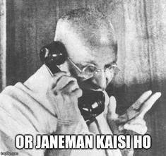 A Gandhi meme. Caption your own images or memes with our Meme Generator. Funny Faces Quotes, Funny Quotes In Hindi, Funny Attitude Quotes, Funny Baby Quotes, Latest Funny Jokes, Funny School Jokes, Some Funny Jokes, Really Funny Memes, Funny Relatable Memes