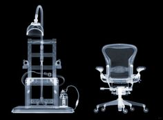"""""""Electric Chair, AP"""" X-Ray #art by #British #contemporary #artist Nick Veasey, available at #GalerieLeRoyer"""