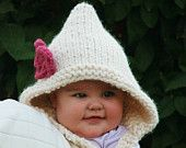 Baby girl clothes Pixie hats baby knit Knit baby hat Knit hat baby  0-3/3-6/6-12/12-24
