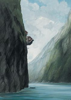 Norwegen: Illustration by Gerhard Glück (10,5 x 14,8 cm Postkarte, €1.00) #illustration #GerhardGlueck