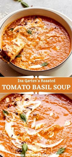The best-rated roasted tomato basil soup. This recipe relies on fresh tomatoes and herbs rather than cream or milk. It's rich and full of flavor. Roasted Tomato Basil Soup, Roasted Tomatoes, Healthy Cooking, Healthy Meals, Cooking Recipes, Egg Recipes For Breakfast, Quick Dinner Recipes, Food Dishes, Main Dishes