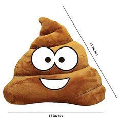 The Gags ®-Emoji Emoticon-Soft-Plush Poo-Poop-Pillow-12 Inches #funny #fashion #gaggift #giftidea #poop #poopemoji #tshirt #tshirts