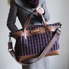 Getaway - Leather Tartan Weekender Bag
