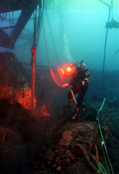Another day at the office for a US Navy Diver