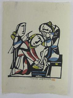 Japanese Art by the artist Sadao Watanabe | Christ Washing the Feet of St. Peter 1988