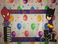 batman spiderman photo frame party prop to by titaspartycreations