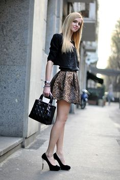 Chiara Ferragni. The best looking cheetah print I've seen in a while. Loved this.