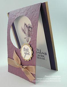 SAB Lotus Blossom Fold-Over Blossom card by Dawn Olchefske #dostamping #stampinup