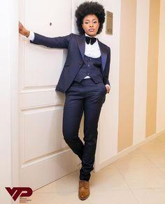 The Nigerian Female Best Man / Grooms Lady Androgynous Fashion Women, Black Women Fashion, Corporate Attire, Business Casual Attire, Groomsmen Outfits, Groomsmen Tuxedos, Ushers, Best Man Outfit Wedding, Pretty White Dresses