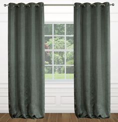 Raindrops Floral Grommet Curtain Panels