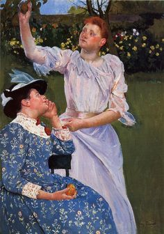 Mary Cassatt (American, 1844–1926) Young Women Picking Fruit, 1891. Oil on canvas, 51 3/4 x 35 1/2 in. (131.44 x 90.17 cm). Carnegie Museum of Art, Pittsburgh, Pennsylvania.