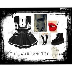 Fnaf: The Marionette by felicityr2002 on Polyvore featuring Hell Bunny and Charlotte Tilbury