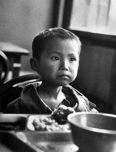 Koo Ri Kang, a Korean war orphan who would not smile in South Korea, 1951.  Michael Rougier—The LIFE Picture Collection/Getty Images
