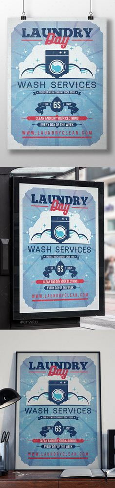 Laundry Services Flyers Templates  Laundry Service Flyer