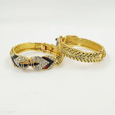 Bangles & Bracelets Trendy Brass Bangles Material: Brass Size: 2.4 2.6 2.8 Description:  It Has 2 Pieces Of Bangles Work: Embellished & Stone Beads Country of Origin: India Sizes Available: 2.4, 2.5, 2.6, 2.8, 2.10, Free Size   Catalog Rating: ★4 (502)  Catalog Name: Ragavi Classic Brass Bangles CatalogID_169808 C77-SC1094 Code: 771-1324710-543