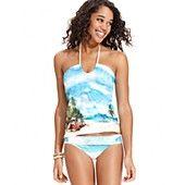Hobie Swimsuit, Halter Scenic-Print Tankini Top & Banded Brief Bottom