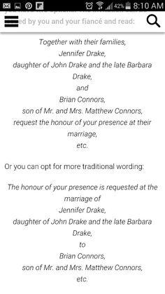 Wedding Invitation Wording Deceased Father Wording for Wedding