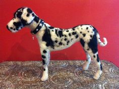 Needle Felted Dog Custom by FuzzyBuddys on Etsy, $75.00