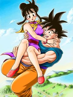 Resultado de imagem para goku and chichi - Visit now for 3D Dragon Ball Z shirts now on sale!