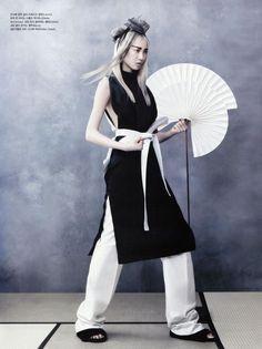 """Vogue Korea """"Martial Arts"""" Model Soo Joo Park, Stylist Ji Ah Lee. June 2013."""