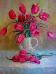Shop for tulips art from the world's greatest living artists. All tulips artwork ships within 48 hours and includes a money-back guarantee. Choose your favorite tulips designs and purchase them as wall art, home decor, phone cases, tote bags, and more! Art Floral, Watercolor Art, Acrylic Paintings, Abstract Paintings, Spring Flowers, Art Flowers, Still Life Flowers, Pink Tulips, Color Of Life