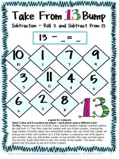 FREEBIE - Play Subtraction Bump to review subtraction - by Games 4 Learning
