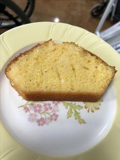 6月22日。おやつは、レモンケーキでした!178カロリーです