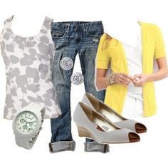 Grey and yellow - I can make this outfit!