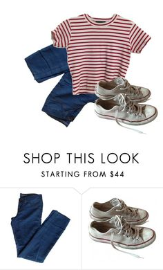 """fire"" by f-peralta ❤ liked on Polyvore featuring J Brand and Converse"