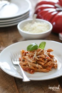 5 Cheese Sun-Dried Tomato Pasta | Inspired by Charm