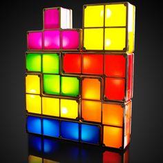 Bouw je eigen lamp met de nostalgisch tetris lamp. Te gek cadeau voor de gamers