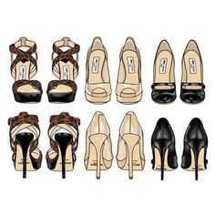 All Things Nice & Beautiful.. heels illustration
