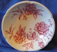 Toile Pink Roses Dinnerware