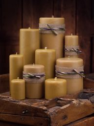 Smooth Golden Beeswax Candles