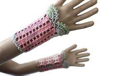 Crochet Cuffs   Crochet Fingerless Gloves     by karmasaccessories
