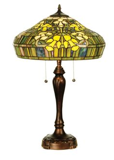 "25""H Tiffany Jonquil Table Lamp"