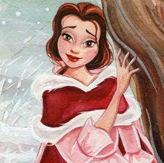 Christmas Belle 4x6 Fine Art Quality Print By 18thCenturyShop