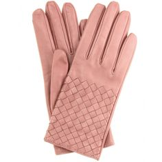 Intrecciato Leather Gloves + Bottega Veneta