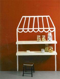 ¿y qué tal si pintamos nosotros mismos la casita o tienda para niños? / And what about if we just paint a DIY crafts kids playhouse or store?