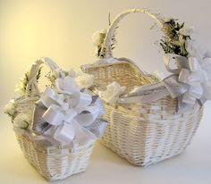 Большие серебряные и белые декоративные плетеные корзины, ShareYourDreams