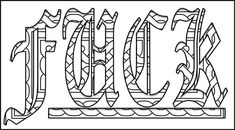 Swear Word Printable Adult Coloring Pages