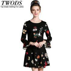 L- 5XL Vintage Floral Print Autumn Mini Dress Appliques Drop Waist Short Good Quality Vestidos WOW http://www.artifashion.net/product/l-5xl-vintage-floral-print-autumn-mini-dress-appliques-drop-waist-short-good-quality-vestidos/ #shop #beauty #Woman's fashion #Products
