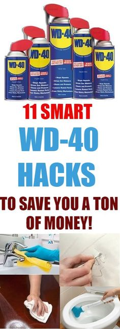 11 Smart WD-40 Hacks that will save you a ton of money. See how just knowing what to use in your home to take care of certain cleaning activities can save you a lot of time and money. #wd-40 #cleaning #cleaninghacks #hacks #tipsandtricks #home #hometips #cleaningtricks