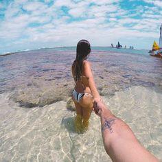 Couple Beach, Bikinis, Swimwear, Poses, Couples, Beach Couples, Beach Photos Couples, Beach Girl Photos, How To Plan