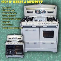 My new stove Okeefe and Merritt Model 505 circa 1952