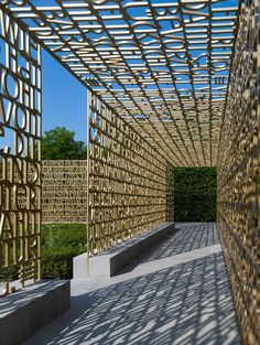 28 Pergola Design Ideas - The Architects Diary Architecture Details, Landscape Architecture, Landscape Design, Garden Design, Canopy Architecture, Environmental Graphic Design, Environmental Graphics, Donor Wall, Berlin Design