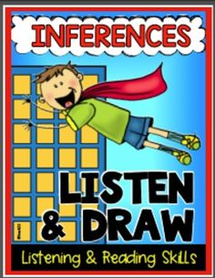 "Superhero themed lessons will strengthen students inferences skills, writing, and listening skills. Activities called ""Listen and Draw"" are included in this latest edition. Listening skills are so important! Before you can effectively teach procedures and academic skills, your students need to listen and attend to what you are saying.  paid"