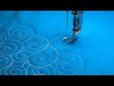 Free-Motion Quilting Ideas: Swirl/Feather Filler - YouTube